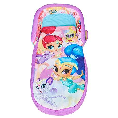 Ready Bed 401SMS Shimmer and Shine Letto Gonfiabile e Sacco a Pelo per Bambini 2 in 1, Poliestere-Cotone, Multicolore, 130 x 61 x 23 cm