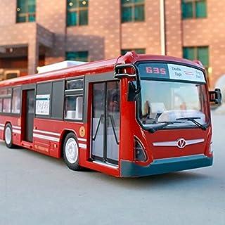 RC Bus, 6 Kanal 2.4GHz Hochgeschwindigkeits Ferngesteuerter Bus RC Stadt Schnellzug mit realistischen Tönen und Licht-Öffnung Türen Volles Funktions-RC Spielwaren für Kind-bestes Weihnachtsgeschenk (Rot1)