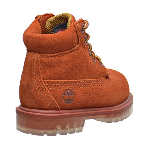 Timberland 6 Inch TPU Outsole Water Proof Suede Premium Toddler s Boots Rust tb0a1blq  7 M US