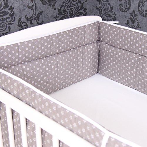 Bettumrandung Nestchen Kopfschutz 420x30 cm Bettnestchen Baby Design 25 NEU