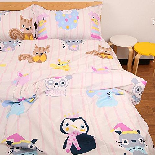 memorecool Haustierhaus Kissenbezüge 1Stück Cute Cartoon Tiere 100% Baumwolle Heimtextilien 48,3x 73,7cm, baumwolle, quilt cover, Volle Größe (Volle Größe-jersey-bettwäsche)