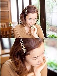 Kingken Fashion - Clip de Pelo para Mujer, acrílico, Estampado de Leopardo