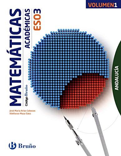 Código Bruño Matemáticas Académicas 3 ESO Andalucía3 volúmenes