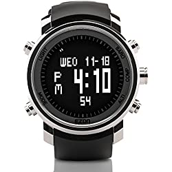 EZON H506 Multi-function Hiking Watch with Digital Compass Barometer Altimeter Thermometer Chronograph Alarm Outdoor Climbing Wrist Sports Watches for Men and Women
