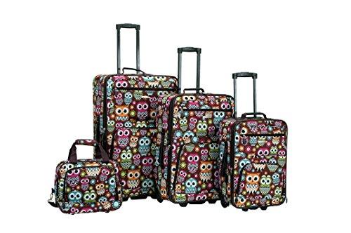 rockland-4-piece-luggage-set-owl-one-size