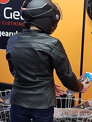 Australian Bikers Gear  – Sturgis Tour – Damen Motorrad-Lederjacke – Protektoren -52 (6XL) - 6