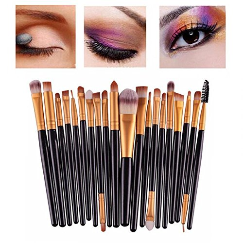 CoKate 20pcs/Set Brushes Pro Powder Foundation Eyeshadow Eyeliner Lip Brush Tool Set by CoKate