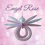 Bastelset Engel Rose weiß rose 12,5x9cm, Perlentiere