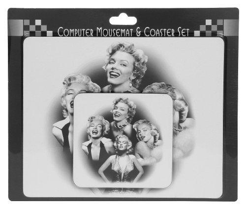 Mauspad und Untersetzer mit Marilyn-Monroe-Motiv -