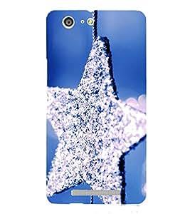 PrintVisa Sprinkling Star 3D Hard Polycarbonate Designer Back Case Cover for Gionee Marathon M5
