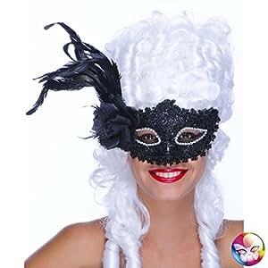 Masque Loup Baroque Noir - Taille Unique