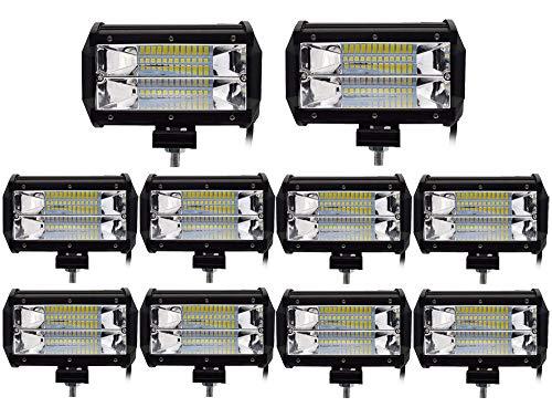 Leetop 10X 72W Focos de Coche LED Potentes,IP67 Impermeable Blanco Frío Faro...