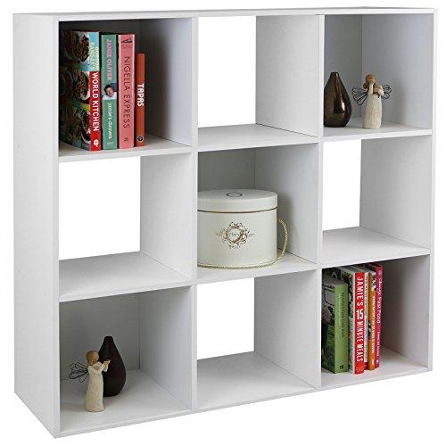 Superieur Hartleys White 3 Tier Storage Unit   9 Cubes