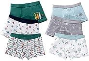 LeQeZe 6Pcs Calzoncillos Bóxer de algodón para Niños 2-11 años