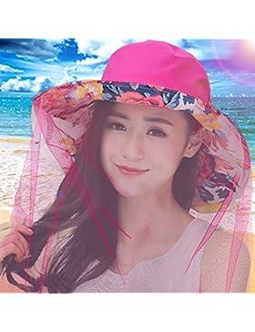 estate femminile pieghevole Protezione solare Coprire la faccia Anti-UV grandi gronda cappello da sole ( Colore...