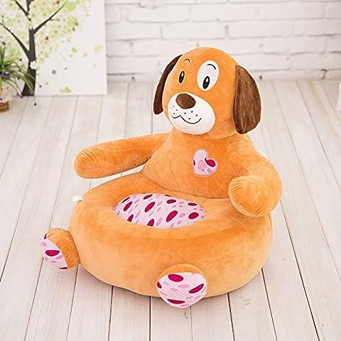 MeMoreCool–Carcasa Gris Elefante los niños Cartoon, niños extraíble de sofá silla de juguete de felpa para Navidad/regalos del día de los niños, algodón, khaki dog, 20