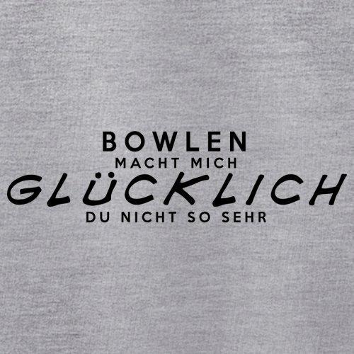 Bowlen macht mich glücklich - Unisex Pullover/Sweatshirt - 8 Farben Grau Meliert