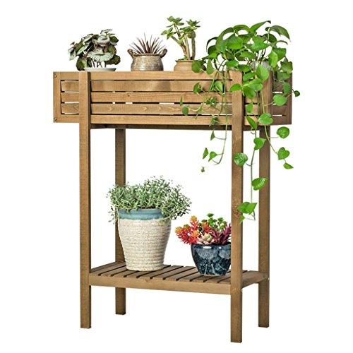 JIA JIA HOME-Intérieur/extérieur Étagères Présentoir de plantes de jardin étagères de coin de fleurs en bois pour extérieur pour balcon en blanc (taille : 60x30x72cm)