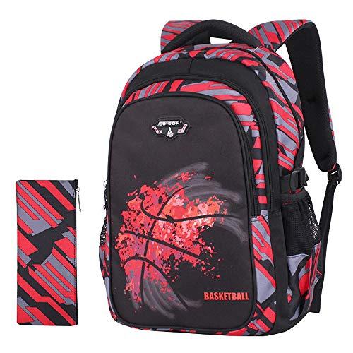 Kostüm Erwachsene Für 2 Bleistift - TYYM Backpack Kinderrucksack Basketball 3D Gedruckt Cartoon Anime Book Bag , Rucksack + Bleistift Tasche 2-teiliges Set 18 inch