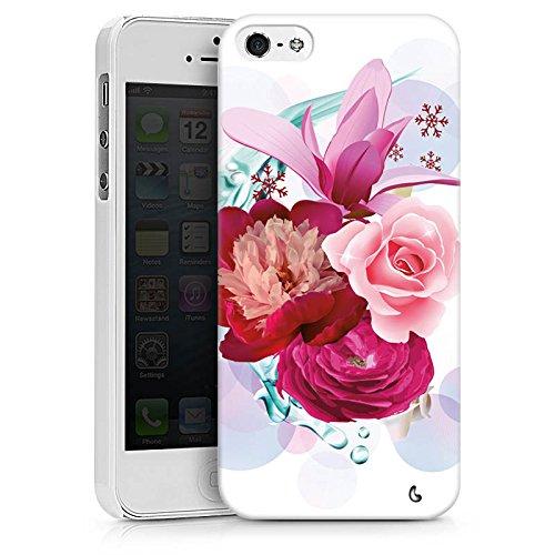 Apple iPhone X Silikon Hülle Case Schutzhülle Blumen Blüten bluete Hard Case weiß