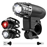 Vorally LED Fahrradbeleuchtung Set - 400LM USB...
