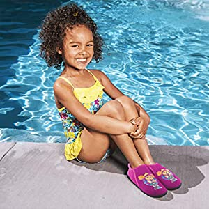 SwimWays Paw Patrol Swim Shoes Natación - Calcetines y Escarpines para Deportes acuáticos (Zapatillas, Niño, Femenino, Violeta, Natación, Imagen)