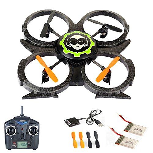 Preisvergleich Produktbild 4.5 Kanal 2.4GHz RC R/C ferngesteuerter Quadrocopter, UFO-Modell Drohne für 3D-Flug, mit MEGA-SET: 2x Akku und Ersatzteil-Set, Ready-to-Fly