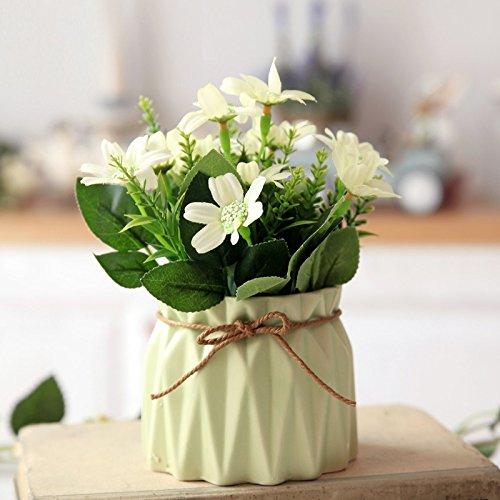 Emulation Kit (NOHOPE Idyllische Emulation Blumenvasen Topfpflanzen Kit Tabelle florale Kunst Kit Home Decoration Muttertagsgeschenk)