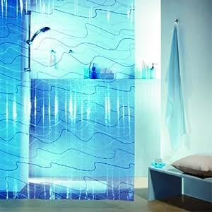 Spirella Pool Rideau de douche Plastique PEVA transparent