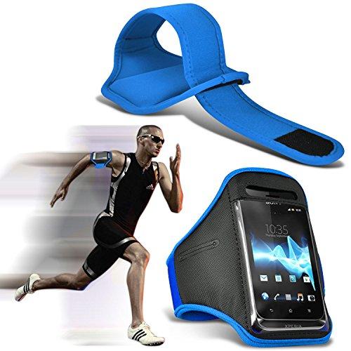 ( Baby Blue ) Blackberry Curve 3G 9330 Premium Quality Sports Lauf Jogging Ridding Bike Cycling Gym Arm-Band-Kasten-Beutel-Abdeckung von Fone-Case 9330 Screen Protector