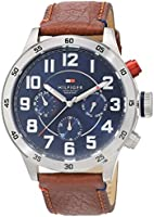 Tommy Hilfiger Watches Herren-Armbanduhr Analog Quarz Leder 1791066
