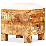 WT Trade Design Sitzbank mit Stauchfach Recycletes Massivholz Flurbank | 40 x 40 x 45 cm | Sitzwürfel Ottomane Sitzhocker Aufbewahrungstruhe Sitzbox | Aufbewahrungsbox
