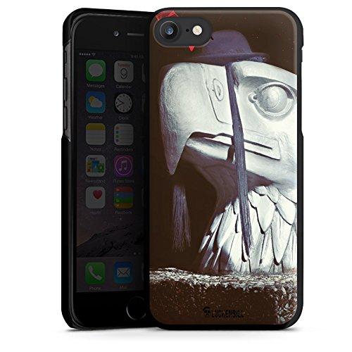 Apple iPhone X Silikon Hülle Case Schutzhülle Roboter Statue Adler Hard Case schwarz