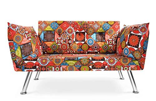 Easysitz Sofa 2 Sitzer Schlafsofa Zweisitzer Klein 2-Sitzer Couch Schlafsessel Bettsofa Futon Bed Sessel Sitz Kleines Sitzen für Er EIN Einer Zweier Mein Personen Farbauswahl (Gypsy)
