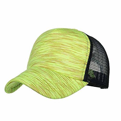 Kobay ombra del cappuccio della maglia del cappello di berretto da baseball delle bande variopinte regolabili delle donne di modo