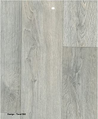 0592-Travel 3.5 mm Thick Grey Wood effect Anti Slip Vinyl Flooring Home Office Kitchen Bedroom Bathroom High Quality Lino Modern Design 2M 3M 4M wide and upto 10M length (Hercules)