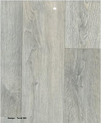 0592-Travel 3.5 mm Thick Grey Wood effect Anti Slip Vinyl Flooring Home Office Kitchen Bedroom Bathroom High Quality Lino Modern Design 2M 3M 4M wide and upto 10M length (Hercules) - cheap UK flooring store.