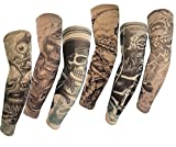 OHlive 6st temporäre künstliche Slip auf Tattoo Arm Ärmel (freie Größe)