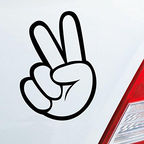 Auto Aufkleber in deiner Wunschfarbe Peace Shocker Zeichen Tuning Dub OEM JDM 10x7 cm Autoaufkleber Sticker Folie