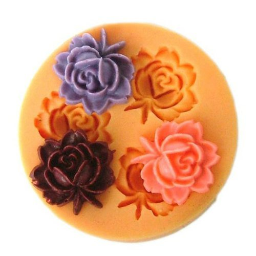 [Free Shipping] F0033 Silicon Resin Flower Cake Mould Soap Candy Jelly Chocolate Mould // Molde de la torta de la flor del jabón del molde del chocolate del caramelo de by Bml
