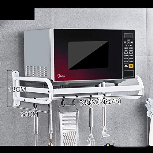 l Wandhalterung Wandhalterung 53 * 38 * 18cm (Farbe : Weiß, größe : 58cm) ()