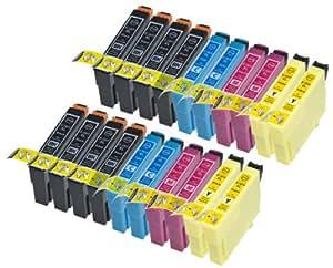 20 x cartouches d encre compatibles aver puce utilisation dans Epson C13T18164010, C13T18064010, 18, 18XL C13T18144010, C13T18134010, C13T18124010, C13T18114010, C13T18044010, C13T18034010, . poure Epson MUFC Limited Edition, XP-102, XP-202, XP-205, XP-212, XP-215, XP-30, XP-302, XP-305, XP-312, XP-315, XP-402, XP-405, XP-405WH, XP-412, XP-415 S1 Ink and Toner