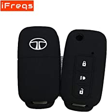 iFreqs Premium Silicone Flip Key Cover for Tata Safari Storme/Zest / Bolt/Tiago / Zica (Check Images Before Buying)