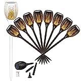 96 LED Solar Gartenleuchte Solar Garten Beleuchtung Garten Licht, Solarlampe mit IP65 wasserdicht und realistischen Flammen (8 Stücke)