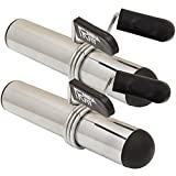 MiraFit Colliers & Manches Adaptateur en Chrome Pour Barre Haltère - Standard 1'/25mm a Olympique 2'/50mm