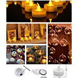 Goyal TL-1BT LED Flameless YELLOW Tea Light Candles With Extra Batteries (SET OF 12)