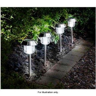 Durable résistant aux intempéries Lot de 5lampes à énergie solaire en blanc