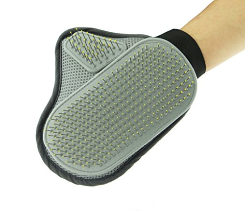 Babe Mall Inc® Comfortable Pet Animal Grooming Glove,Dog & Cat Comb Cleaning Mitt Brush for Medium to Long Hair, Curly 2