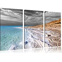 Il Mar Morto al giorno nero / bianco 120x80 immagine