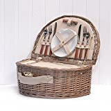 El tamaño de la cesta es de l: 45cm W: 30x 30x 30cm x altura: 19cm incluidos en este Picnic de lujo son el a continuación. 2x 7platos de porcelana, 2x cuchillos de acero, 2x tenedores de acero inoxidable, 2x cucharas de acero inoxidable, 1...